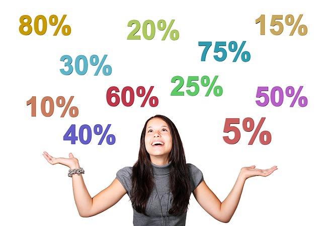 procenta nad brunetou