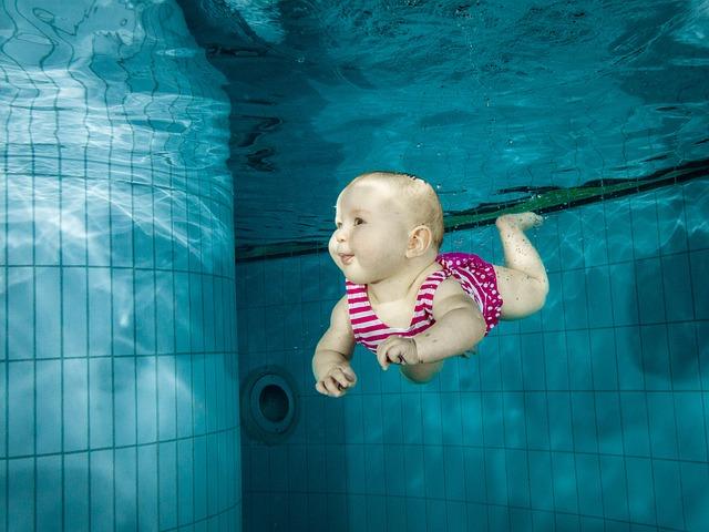 potápění dítěte