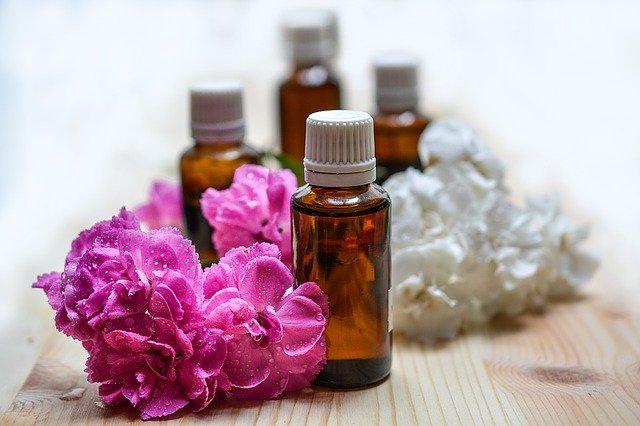 masážní olej + květiny